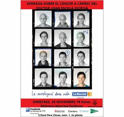 cartell la marató a la biblioteca de pardinyes