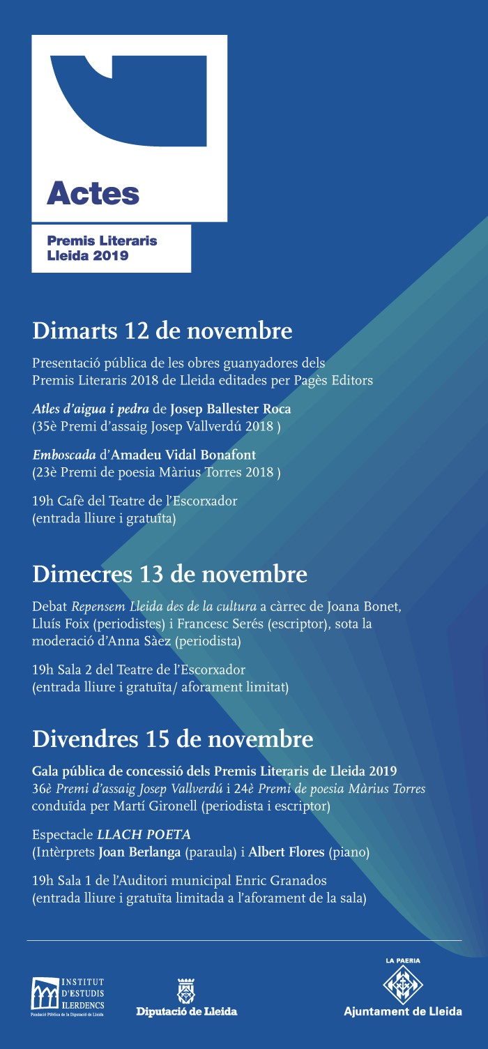 setmana actes premis literaris 2019