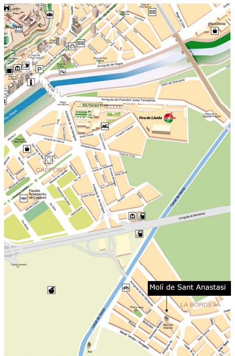Plànol Molí de Sant Anastasi