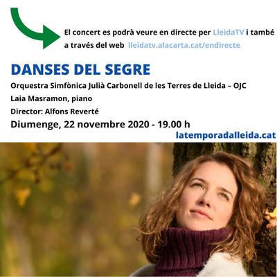 """El concert """"Danses del Segre"""" de l'OJC, aquest diumenge per Lleida TV"""