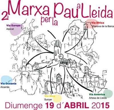 2a Marxa per a la pau a Lleida aquest diumenge 19 d'abril