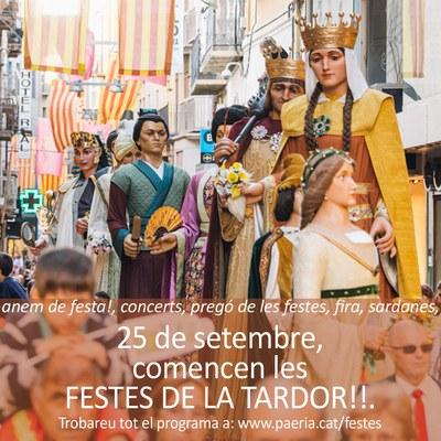 Avui comencem les Festes de la Tardor!!