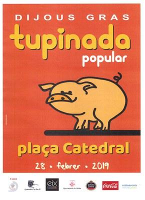 Avui vine a gaudir de la Tupinada Popular i el Pastís de Carnaval