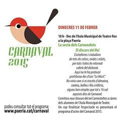 Avui.... Comença el Carnaval 2015!!