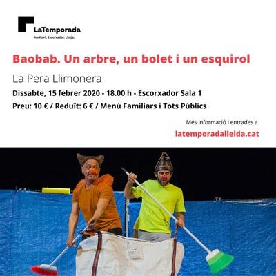 """""""Baobab. Un arbre, un bolet i un esquirol"""" al Teatre municipal de l'Escorxador"""