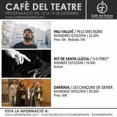 Café del Teatre presenta tres propostes musicals