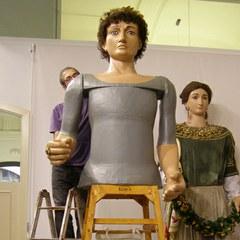 Comença la restauració dels Gegants Romans