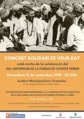 Concert solidari de Veus.Kat amb motiu de la celebració del 50è aniversari de la Fundació Vicente Ferrer