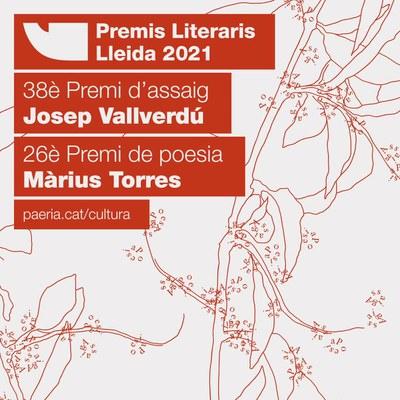 Convocats el 38è Premi d'assaig Josep Vallverdú i el 26è Premi de poesia Màrius Torres