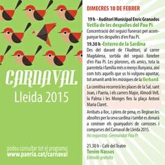 Darrer dia de Carnaval: Enterro de la Sardina