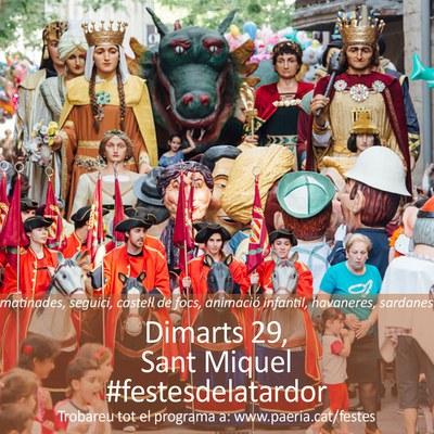 Diada de Sant Miquel - dimarts 29 de setembre