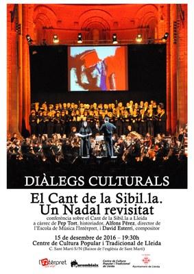 """Diàlegs culturals al Centre de Cultura Popular i Tradicional de Lleida: """"El Cant de la sibil·la. Un Nadal revisitat"""""""
