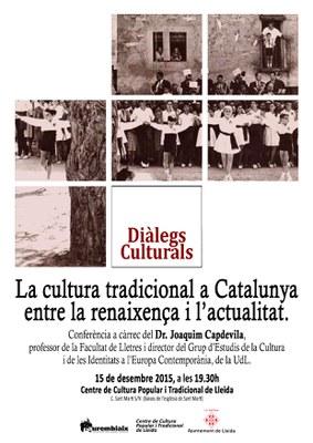 """""""Diàlegs culturals"""" al Centre de Cultura Popular i Tradicional de Lleida"""