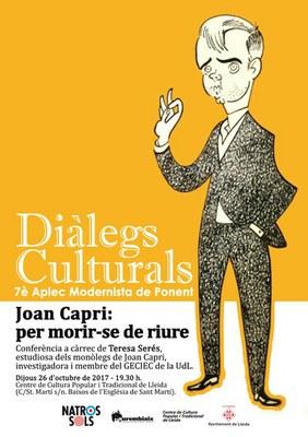 """Diàlegs Culturals: """"Joan Capri: per morir-se de riure"""""""