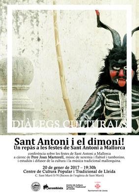 DIÀLEGS CULTURALS:«Sant Antoni i el dimoni!. Un repàs a les festes de Sant Antoni a Mallorca»