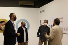 El delegat territorial de la Generalitat a Lleida, Bernat Solé, visita el Museu d'Art Jaume Morera