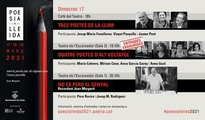 El Poesia Lleida 2021 arrenca avui homenatjant Joan Margarit