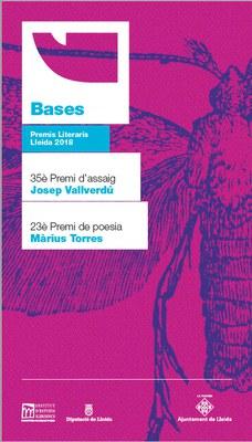Gairebé una  seixantena d'obres opten als Premis Literaris 2018 en la 35ena edició del Premi d'assaig Josep Vallverdú i la 23ena edició del Premi de poesia Màrius Torres