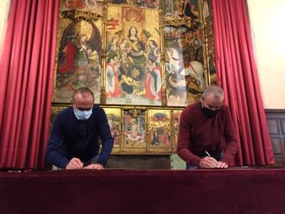 Ermengol cedeix la seva obra a l'Ajuntament de Lleida