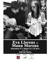 Eva Llorens & Manu Moreno en concert al Cafè del Teatre