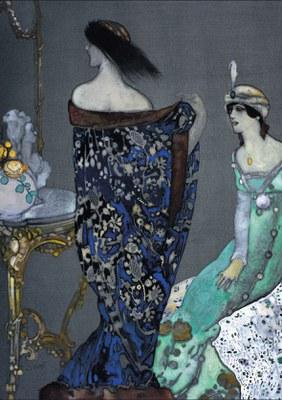 """Exposició """"Xavier Gosé (1876-1915). Il·lustrador de la Modernitat"""" al Museu Nacional d'Art de Catalunya."""