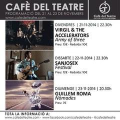 Gaudeix dels concerts programats per aquest cap de setmana al Cafè del Teatre.