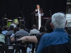 Josep Maria Llop centra el pregó de la Festa Major a explicar el mestratge que li ha donat Lleida en la seva trajectòria professional i personal