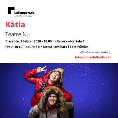 """""""Kàtia"""" de Teatre Nu - Un espectacle molt visual sobre el retrobament amb les nostres arrels."""