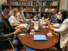L'alcalde, Miquel Pueyo, es reuneix amb la consellera de Cultura, Natàlia Garriga