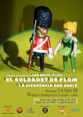 """La Banda Municipal i l'Aula de Teatre actuen a """"El Soldadet de Plom. La diferència ens uneix"""", concert solidari amb Aremi"""