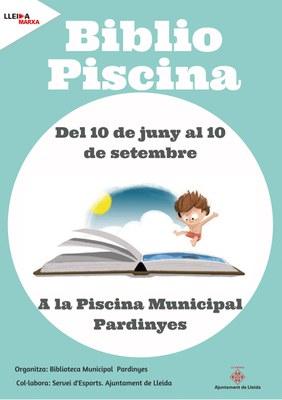 La Biblioteca Municipal Pardinyes estrena un nou projecte aquest estiu « la Bibliopiscina ».