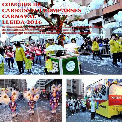 """La comparsa """"La Pluja de Carnaval"""" guanyadora del 4r Concurs de Carrosses i Comparses del Carnaval 2016"""