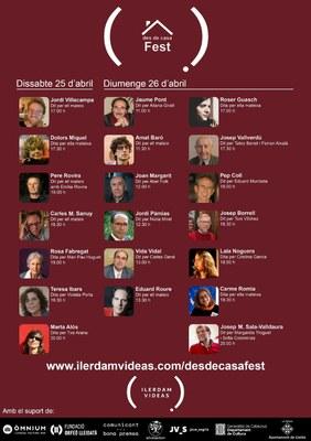 La literatura, protagonista del segon cap de setmana del 'desDeCasa Fest', el festival en 'streaming' amb accent lleidatà