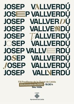 La Paeria atorga divendres el títol de Fill Predilecte de la Ciutat de Lleida a Josep Vallverdú