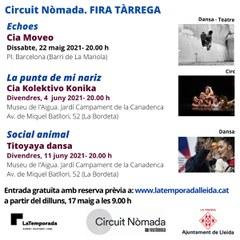 LaTemporada Lleida programa 3 espectacles del Circuit Nòmada de FiraTàrrega