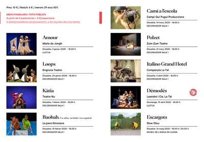 LaTemporada Lleida programa fins al maig 9 espectacles familiars i per a tots els públics