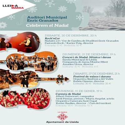 L'Auditori Enric Granados ens convida a celebrar el Nadal amb molt bona música