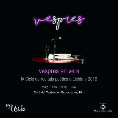 """Lleida rep la primavera amb poesia, encetant una nova edició del cicle de recitals """"Vespres en vers"""" amb la creadora Núria Miret"""