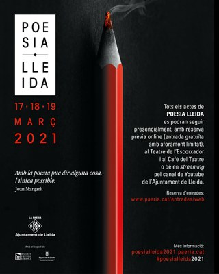 Lleida viurà tres dies de poesia amb 9 propostes diverses