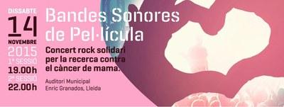 MAMAPOP. Bandes Sonores de Pel.lícula - Concert Rock solidari per la recerca contra el càncer de mama