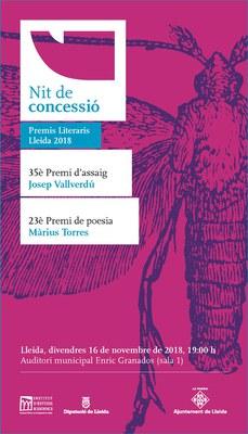 Nit de Concessió dels Premis Literaris - La nit literària de Lleida