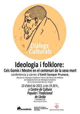 Nova conferència al Centre de Cultura Popular i Tradicional de Lleida