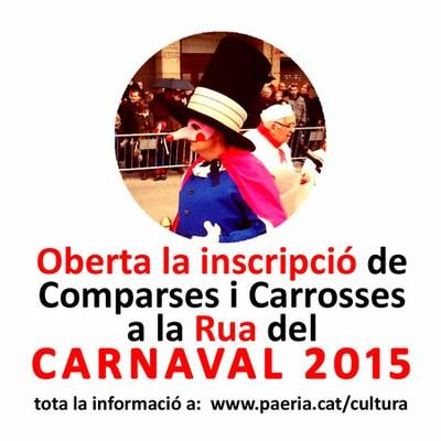 Obertes les inscripcions a la Rua de Carnaval 2015