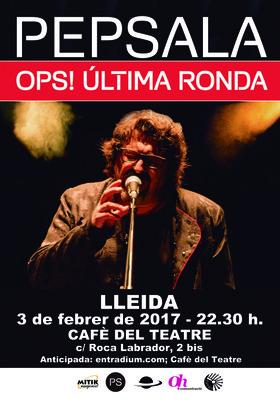 """PEP SALA presenta el seu darrer disc """"Ops! Mireu què he fet"""" al Cafè del Teatre"""