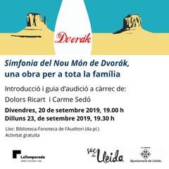 """Presentació de """"Dvorak en família!"""" a la Biblioteca-Fonoteca de l'Auditori"""