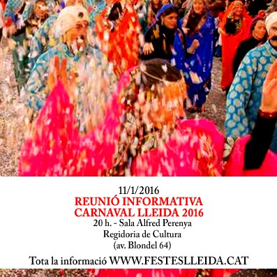Reunió informativa: Carnaval 2016