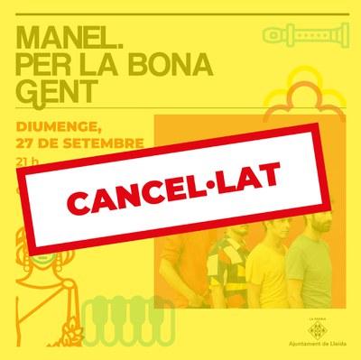 Suspès el concert de Manel a les Festes de la Tardor de Lleida