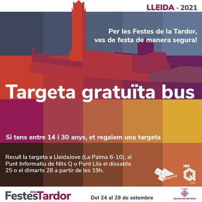 Targeta de bus gratuïta per a joves durant les Festes de la Tardor