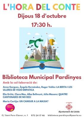 Torna l'Hora del conte a la Biblioteca Municipal Pardinyes