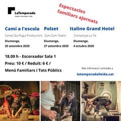 Tres espectacles familiars de La Temporada Lleida es reprogramen al setembre i octubre